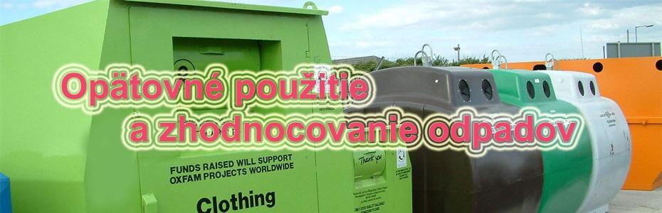 OP KŽP -Recyklácia a opätovné použitie odpadov